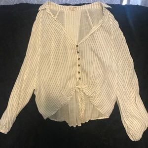 Billabong Striped Sheer Top